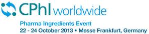 October 22nd-24th, 2013: We are at CPhI 2013, Frankfurt